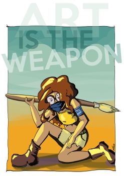 Art Is The Weapon by NidiaConene