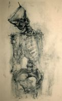 Charcoal and Bone VIII by napoleoman