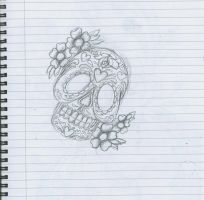 Day of The Dead Skull by 12KathyLees12