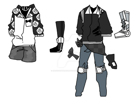 mike and xander clothes by Suqar-qubx
