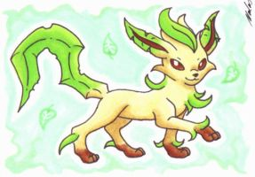 KAKAO 045 - Leafeon by InnocentiaSanguinis