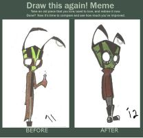 Before and After Meme: Ft. Slanen by CoccineousCephalopod
