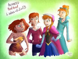 Redhead Ladies of 2013 by candlehat