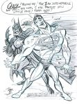 Jerk Superman and Batman by tombancroft