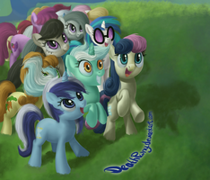 Sneak Preview: What Are These Pones Excited For? by DeathPwny
