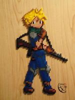 Cloud Soldier Trainer Perler beads by Cimenord