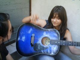 Me and my lovely guitar by sun-and-sands