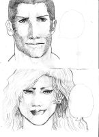 Faces Sketch by Junior-Rodrigues