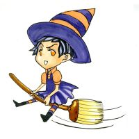 chibitime: witch by Meam-chan