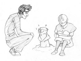 befriande: Bros and a singing groundhog by pai-draws