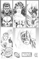 Marvel DC Sketches by Kenpudiosaki