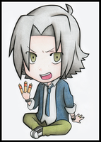 Gokudera Painted :P by OukaSakazaki