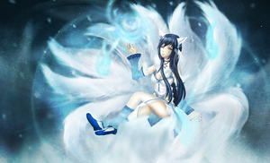 LoL - Artic Ahri by Ika-xin