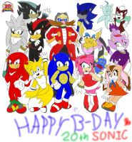 :.:Sonic's 20th Anniversary:.: by loverrose