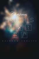 Christmas Brushes by raibowforlife