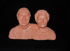 Nan and Grandad finished sculpt by NJSFX