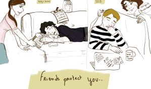 Sleepy Sherlock-John by NapoLolo