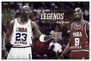 Michael Jordan - Kobe Bryant wallpaper by RafaelVicenteDesigns