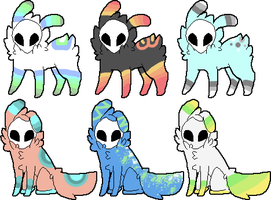 Skull Fuzzy Adopts - One - .OPEN. by DucksauceAdoptables