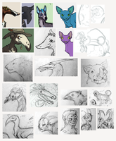 Adoptable WIPs 2 by Pred-Adopts