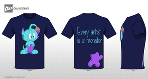 Cute Monster Shirt by GameboyProductions