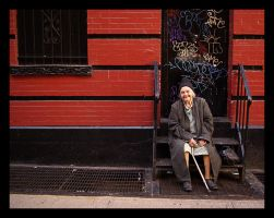 Old street old woman. by art-now