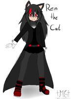 Ren the Cat Reference [with clothes] by Milchwoman