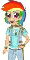 MLP - Human!Rainbow Dash by Jackie-Chaos-Bunny