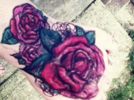 Tattoo on my hand of sharpies! by AcrylicDream