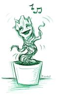Dancing Groot Sketch by msciuto