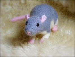 Needle Felted Commissioned Rat pic 2 by CVDart1990