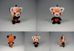 Red Panda Keychain Plush by WhittyKitty