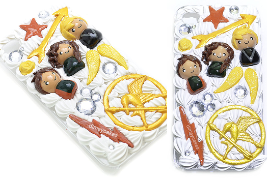 Hunger Games Themed Decoden iPhone 4/4s Case by dimeycakes