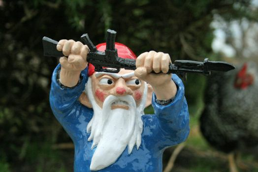 Bayonet Attack Gnome by thorssoli