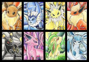 Eevee - Cards by Merinid-DE