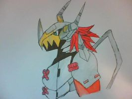 Silver Wargreymon by Hewhouseice