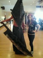 Pyramid Head Cosplay with special guest by SK0TTIE