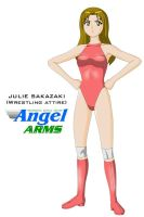 Julie Sakazaki-wrestling gear by Dangerman-1973