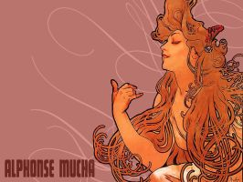 Mucha Wallpaper by sazuka