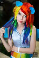 First Cosplay: Rainbow Dash by MeganCoffey