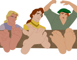 John Smith, John Rolfe and Tom by Pikahontas