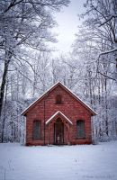 Wintery Church by Seanjhalpin