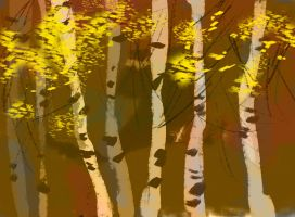 birches by deathrayfish