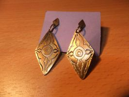 Brass Earrings by Galuorwen