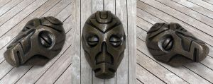 Dragon Priest Mask - Cold Cast Bronze by Thomasotom