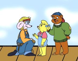 Tablet Test: Penelope, Kit, and Molly by brensey