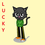HTF OC Gift - Anthro Lucky by PatientPaint93