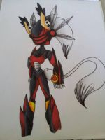 ++daily doodles++Ajatar's fighting suit::. by misty314