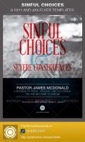 Sinful Choices Church Flyer Template by loswl