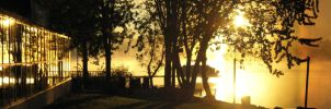 sunrise at the lake front by granco12